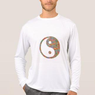 陰陽およびカナダの金鉱の宝石の芸術 Tシャツ