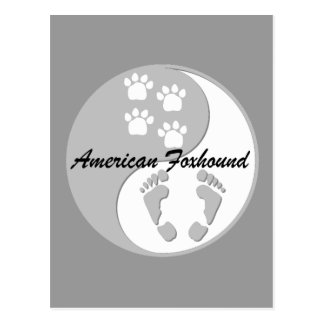 陰陽のアメリカfoxhound ポストカード