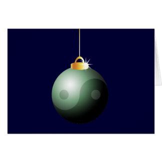 陰陽のクリスマスの球 カード