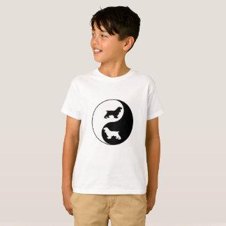 陰陽のコッカースパニエル Tシャツ