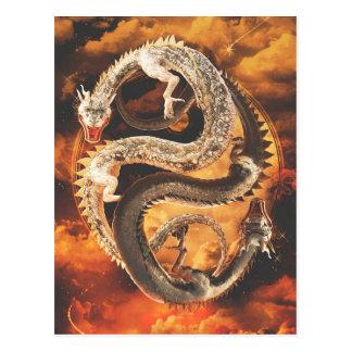 陰陽のドラゴン-無秩序 ポストカード