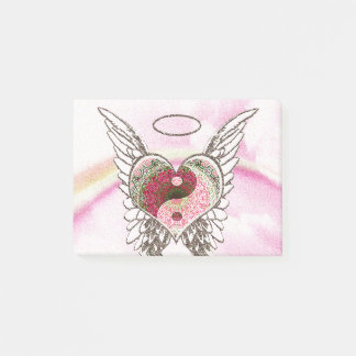 陰陽のハートの天使によっては水彩画が飛びます ポストイット