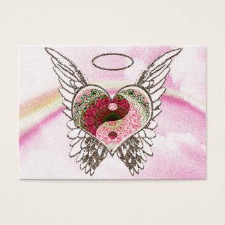 陰陽のハートの天使によっては水彩画が飛びます 名刺