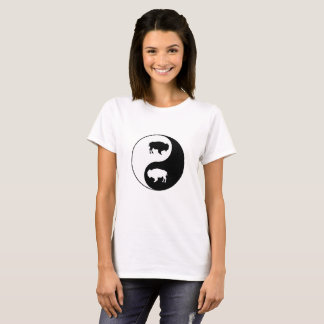 陰陽のバイソン Tシャツ