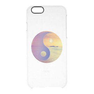 陰陽のビーチ クリアiPhone 6/6Sケース