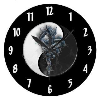 陰陽の中国のなドラゴンの大きい柱時計 ラージ壁時計