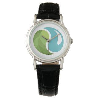 陰陽の地球の腕時計 腕時計