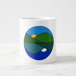 陰陽の太陽の上昇の月の上昇 ジャンボコーヒーマグカップ