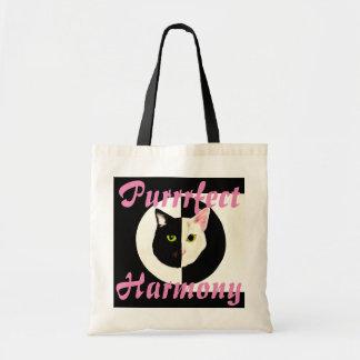 陰陽の白黒猫の完全な調和 トートバッグ