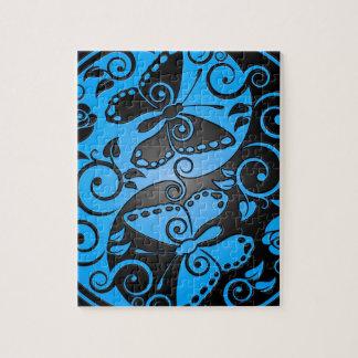 陰陽の蝶、青及び黒 ジグソーパズル