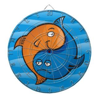 陰陽の魚の漫画 ダーツボード