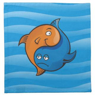 陰陽の魚の漫画 ナプキンクロス