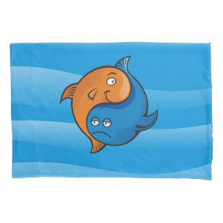 陰陽の魚の漫画 枕カバー
