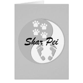 陰陽のshar pei カード