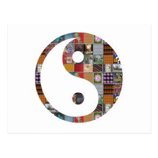 陰陽グループカード低価格のコラージュの芸術NVN481 ポストカード