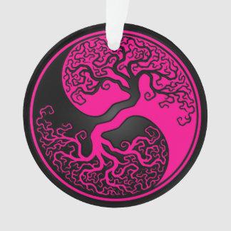 陰陽ピンクおよび黒い生命の樹 オーナメント