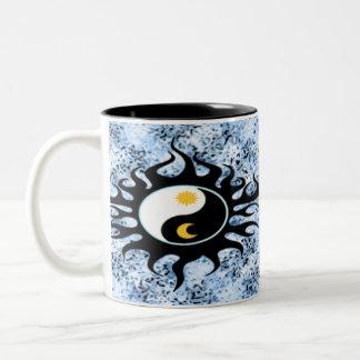 陰陽日曜日及び月 ツートーンマグカップ