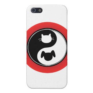 陰陽猫犬 iPhone SE/5/5sケース
