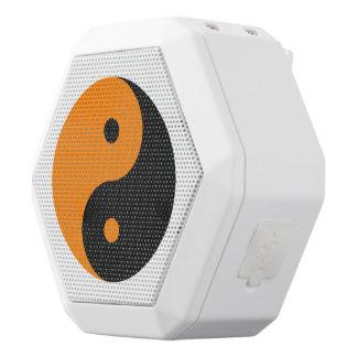 陰陽-オレンジ黒 ホワイトBluetoothスピーカー