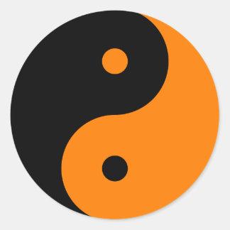 陰陽-オレンジ2 ラウンドシール
