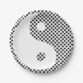 陰陽-水玉模様の紙皿 ペーパープレート