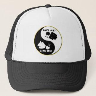 陰陽-議論のロゴの(黒く/白い帽子) キャップ