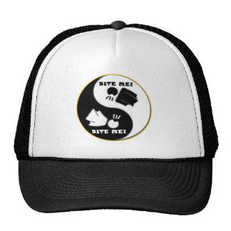 陰陽-議論のロゴの(黒く/白い帽子) ハット