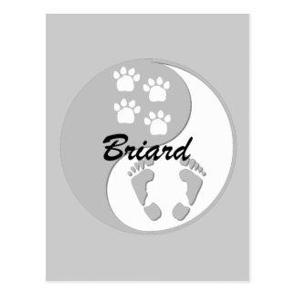 陰陽Briard ポストカード