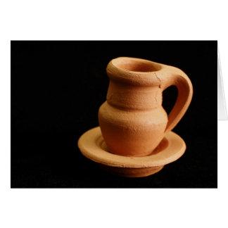 陶器のクローズアップ カード