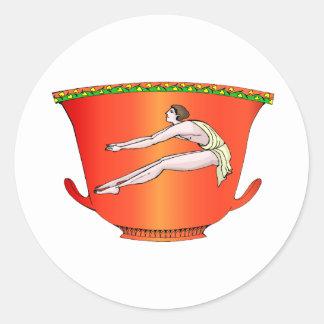 陶器の円盤投げ選手 ラウンドシール