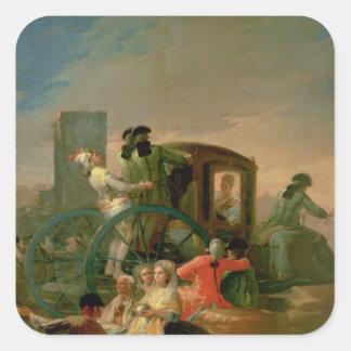 陶器の売り手1778年 スクエアシール