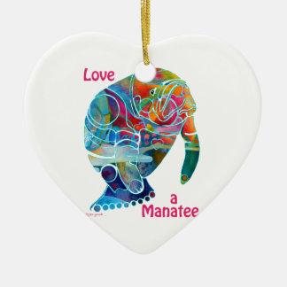 陶磁器のオーナメント愛マナティー セラミックオーナメント