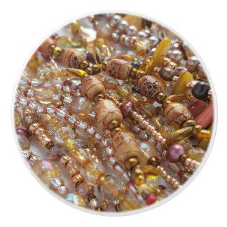 陶磁器のノブの自然な地球の調子のビーズのプリント セラミックノブ