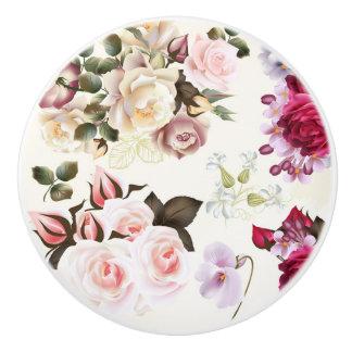 陶磁器のノブ: イタリアの花柄の芸術 セラミックノブ