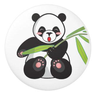 陶磁器のノブ。 パンダ セラミックノブ
