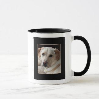 陶磁器のマグの黄色いラブラドル・レトリーバー犬犬 マグカップ