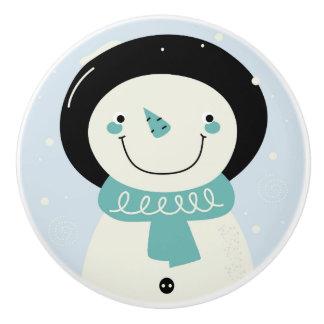 陶磁器の元のノブ: 雪だるま セラミックノブ
