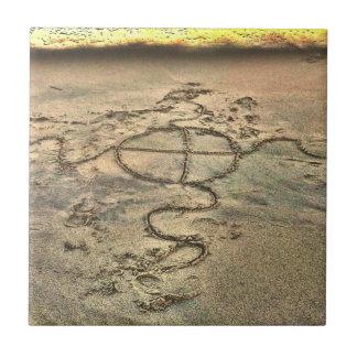 陶磁器の写真のタイルのLowcountryの砂のスケッチ タイル