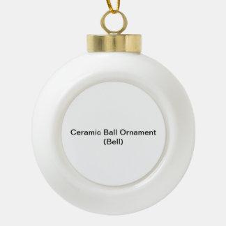 陶磁器の球のオーナメント(鐘) 陶器製ボール型オーナメント
