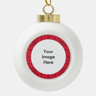 陶磁器の球赤いフレームのオーナメント! セラミックボールオーナメント