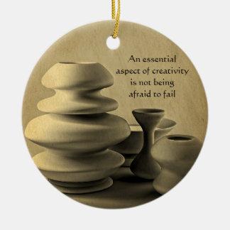陶磁器陶器の静物画の木炭鉛筆のスケッチ セラミックオーナメント