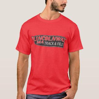 陸上競技のティー-赤 Tシャツ