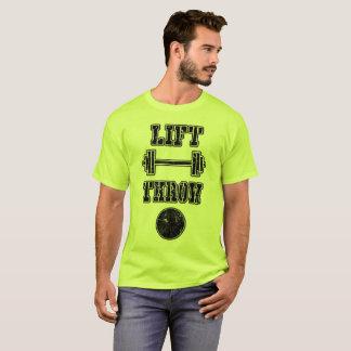 陸上競技の砲丸投げ投げる人のワイシャツ Tシャツ