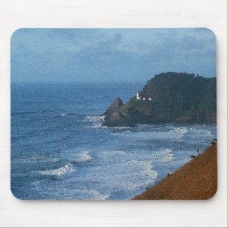 険しいオレゴンの沿岸ビーチの海の海 マウスパッド