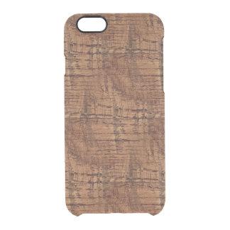 険しいクリのカシ木穀物の一見 クリアiPhone 6/6Sケース