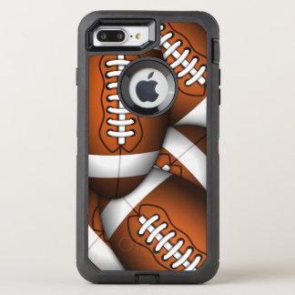険しいクールで男らしいフットボールのアメリカン・フットボール オッターボックスディフェンダーiPhone 8 PLUS/7 PLUSケース