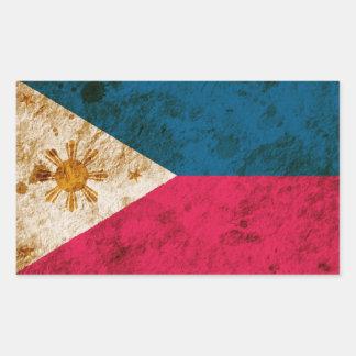 険しいフィリピンの旗 長方形シール