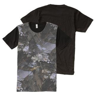 険しい人の黒の鉱物 オールオーバープリントT シャツ