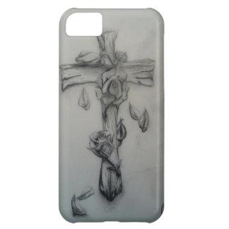 険しい十字およびバラ iPhone5Cケース