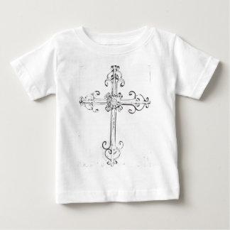 険しい十字 ベビーTシャツ